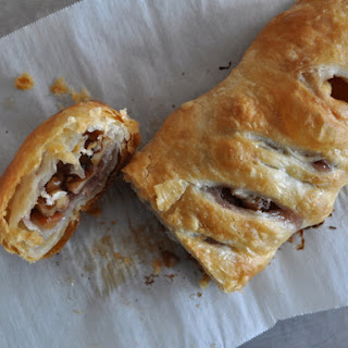 Peach Walnut Strudel.
