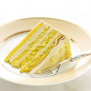 Genoise with Passion Fruit Swiss Meringue Buttercream.