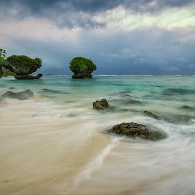 Along The Shore by Jun Robato - Landscapes Beaches ( guam, seascapes, long exposure, landscapes, waterscapes )