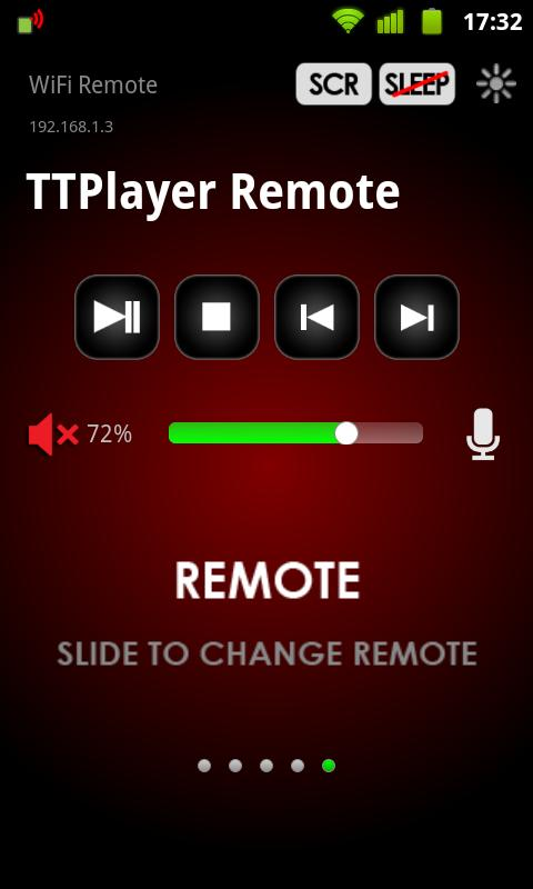 WiFi Remote - screenshot