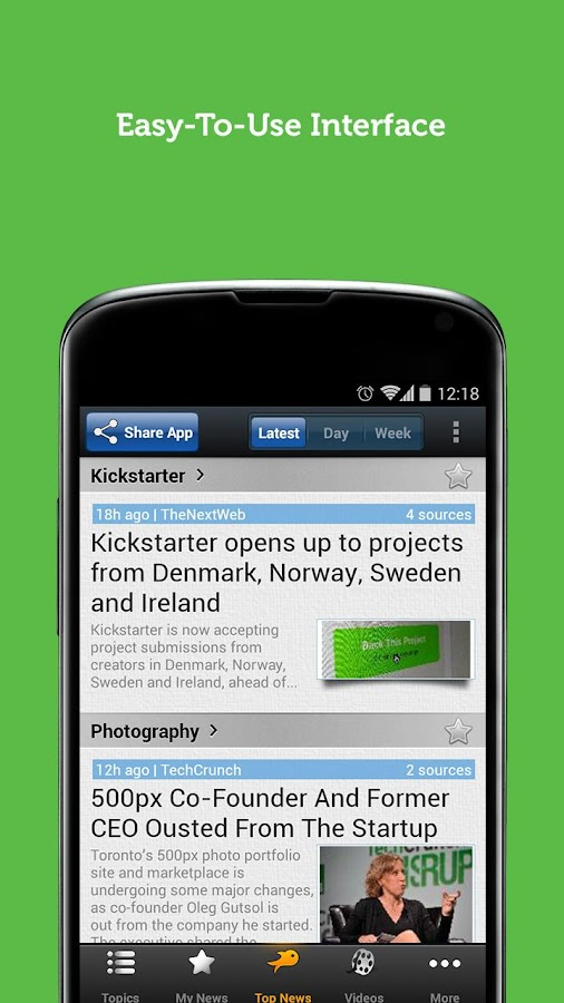 Startup News - Newsfusion - screenshot