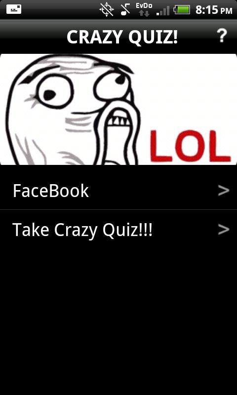 Crazy Quiz!- screenshot