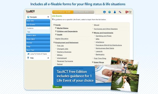 TaxACT Free Federal Edition - screenshot thumbnail