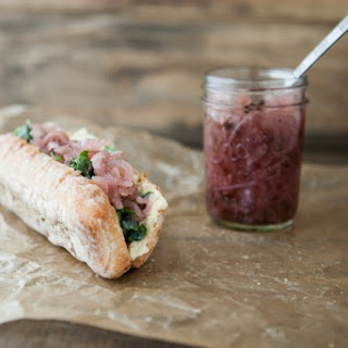 Hummus, Onion Relish, and Honey-Lime Kale Sandwich Recipe