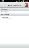 Screenshot of e-Boks.dk