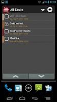 Screenshot of Task List - To Do list Widget
