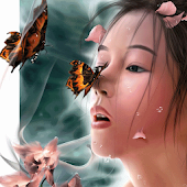 Girl and Butterfly Wallpapers