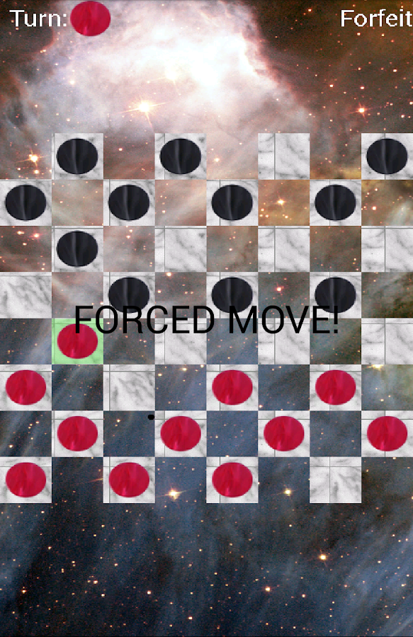 Checkers in Space!- screenshot