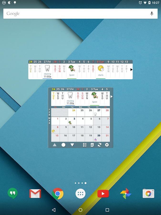 Blik Calendar Widget - screenshot