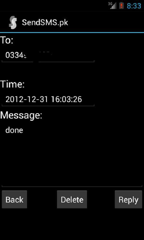 SendSMS.pk (SMS PK | Free SMS) - screenshot