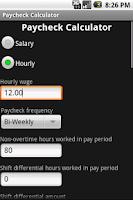 Screenshot of Paycheck Calculator