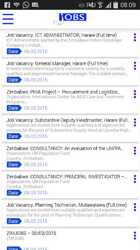 Jobs Zimbabwe