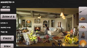 Screenshot of Mystery room. Hidden objects