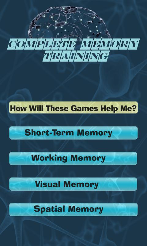 Complete Memory Training Game - screenshot