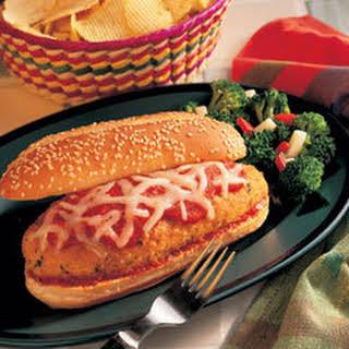 Chicken Parmesan Hero Sandwiches.
