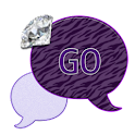 GO SMS THEME/DiamondPrplZebra icon