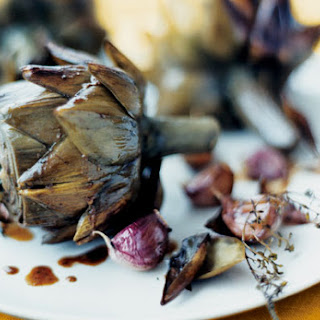 Braised Artichokes with Garlic and Thyme.