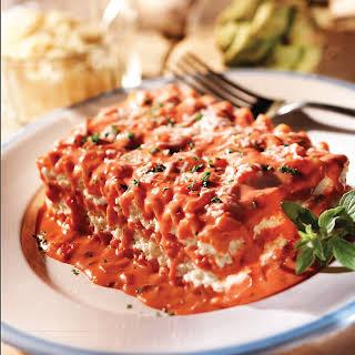 Lasagna with Creamy Pink Sauce.