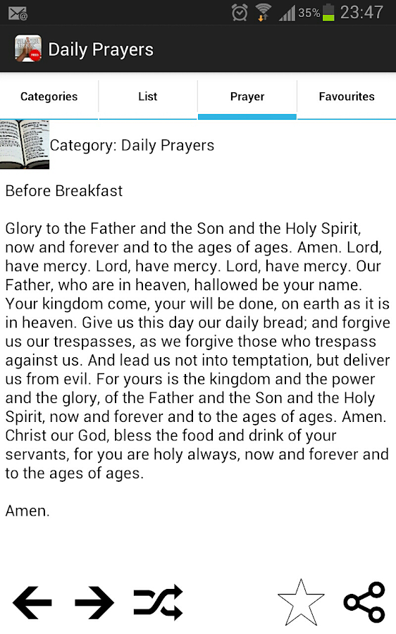 Prayer book- screenshot