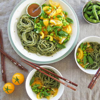 Soba Noodle Salad with Honey Miso Dressing