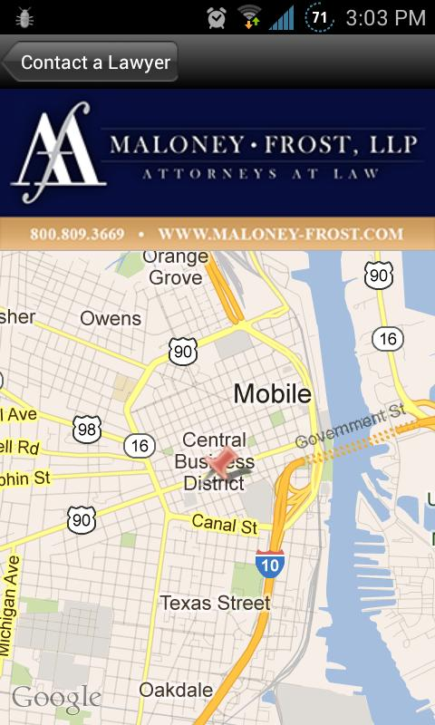 Maloney-Frost, LLP- screenshot