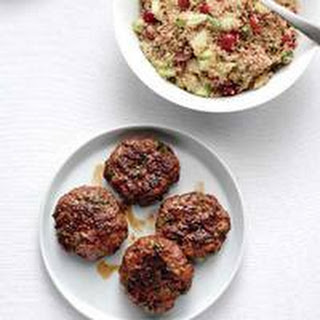 Fragrant Lamb Patties with Bulgur Salad.