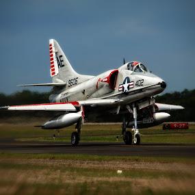 Navy Plane by Kimmarie Martinez - Transportation Airplanes ( plane, airplane, navy, jet, air show )
