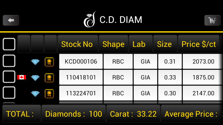 CDDIAM- screenshot
