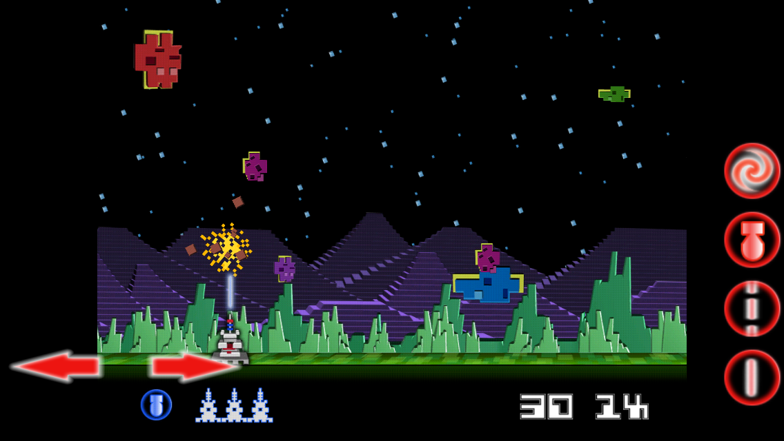 Intellivision Astrosmash Gen2- screenshot