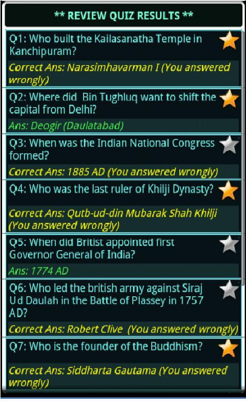 Indian History, Book & Quiz- screenshot