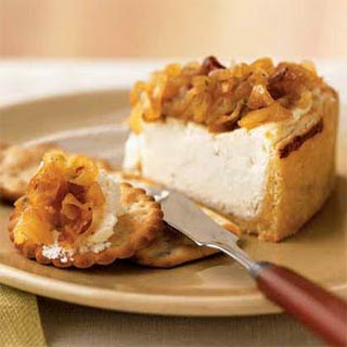 Savory Yogurt Cheesecake with Caramelized Onions