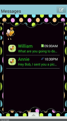 HoneyBee GO SMS THEME