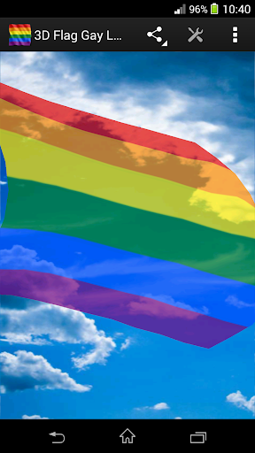 3D Flag Gay Pride LWP