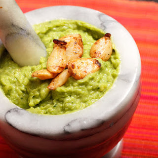 Guacamole with Roasted Garlic.