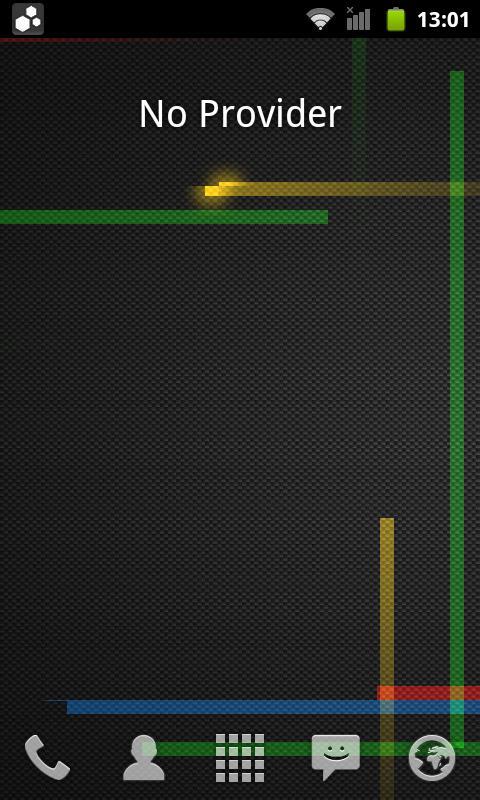 Network Provider Widget - screenshot