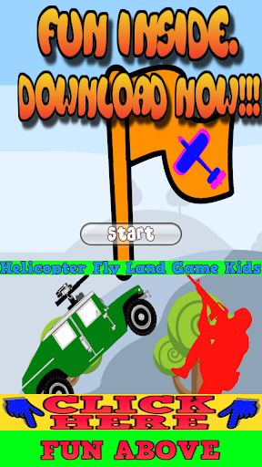 Helicopter Fly Land Game Kids