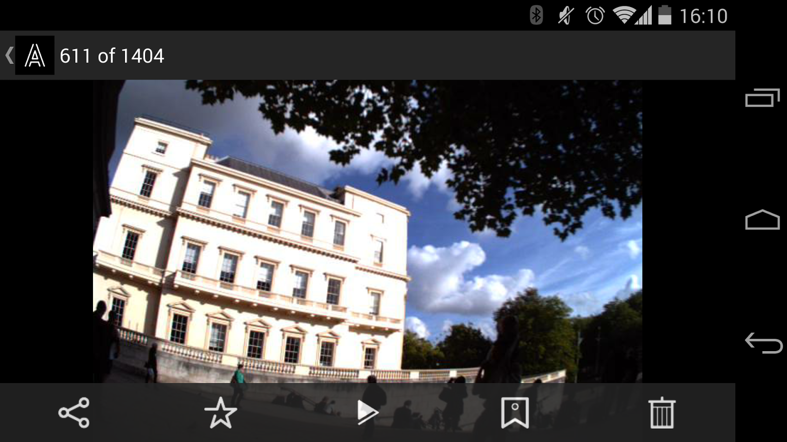 Autographer wearable camera - screenshot