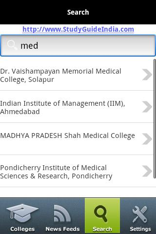 India Colleges - screenshot