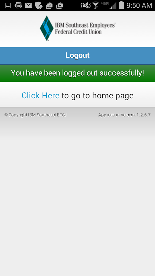 IBMSECU Mobile Banking- screenshot