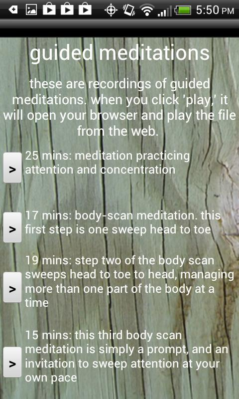 mindfulness - screenshot
