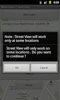 Screenshot of Where Am I ? GeoCode