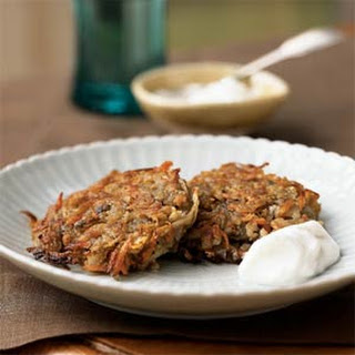 Parsnip-Potato Latkes with Horseradish Cream