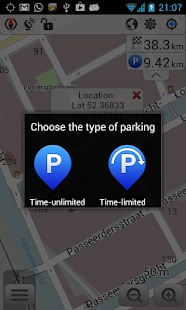 OsmAnd-Parking Plugin - screenshot thumbnail