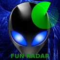 Alien UFO Radar fan icon