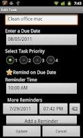 Screenshot of TaskMantra To-do List