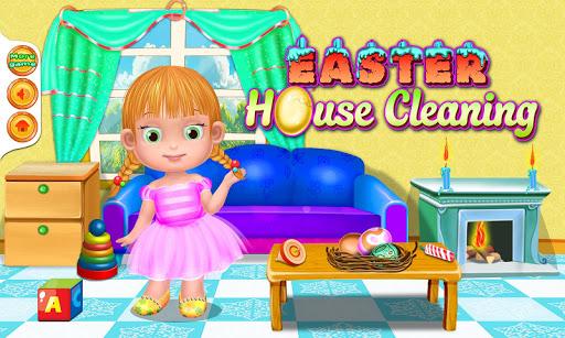房子清理复活节游戏
