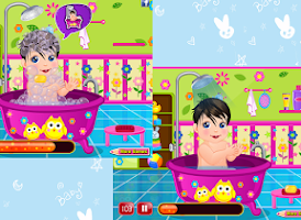 Screenshot of Bubbly Baby Care - Girl Game