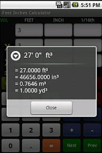 Feet Inch Calculator Free - screenshot thumbnail