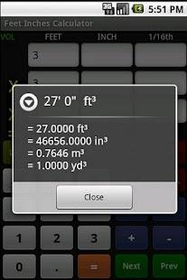 Feet Inch Calculator Free - screenshot thumbnail