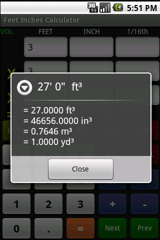 Feet Inch Calculator Free - screenshot